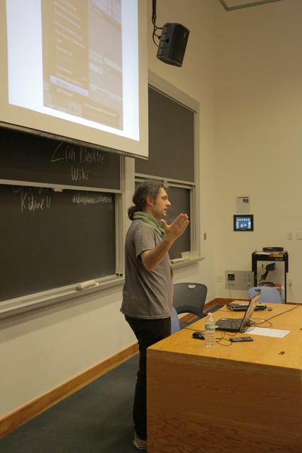 Me Presenting at Libreplanet