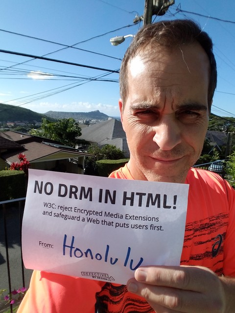 Image for Hawaii: Selfie against DRM in Web standards