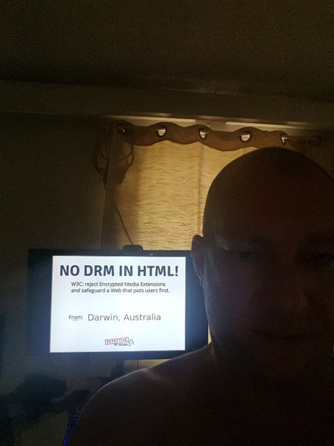 Image for Darwin, Australia: Selfie against DRM in Web standards