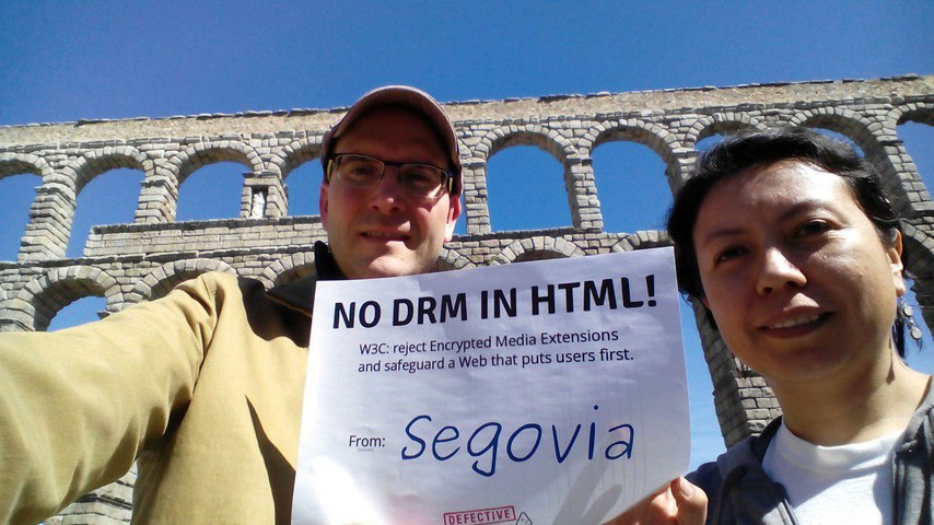 Image for Segovia, Spain: Selfie against DRM in Web standards