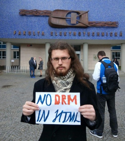 Image for Prague, Czech Republic: Selfie against DRM in Web standards