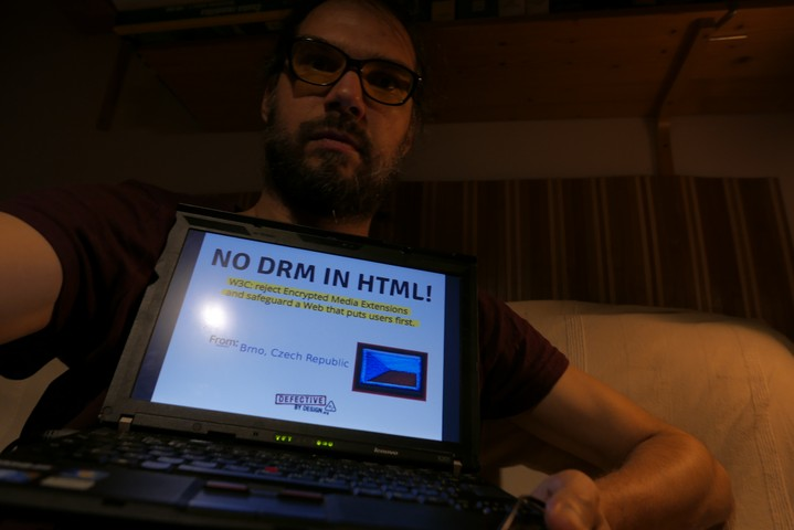 Image for Brno, Czech Republic -- Selfie against DRM in Web standards