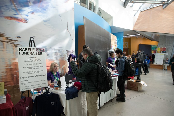 Image for Raffle table at LibrePlanet 2019