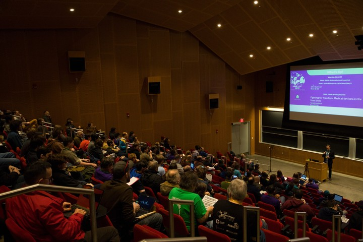 Image for LibrePlanet auditorium view