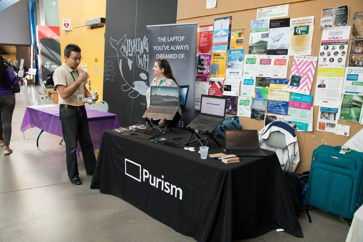 Image for Purism table at LibrePlanet 2019