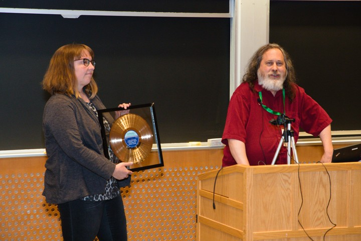 Image for RMS and Kate Chapman, Free Software Award
