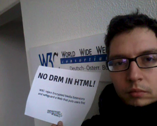 Image for No DRM in Web standards! -- Berlin