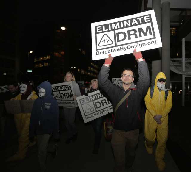 Image for Protesting Microsoft's push for DRM in Web standards
