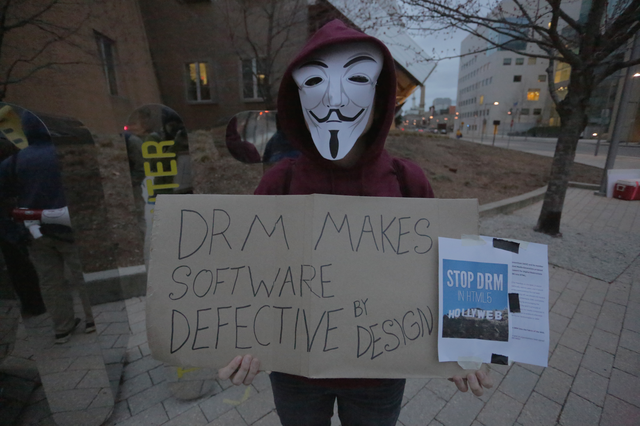 Image for An activist protest DRM in Web standards